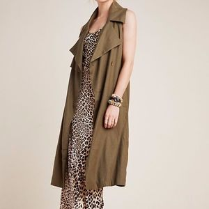 NWT Anthropologie Hollis Tie-Front Trench Vest